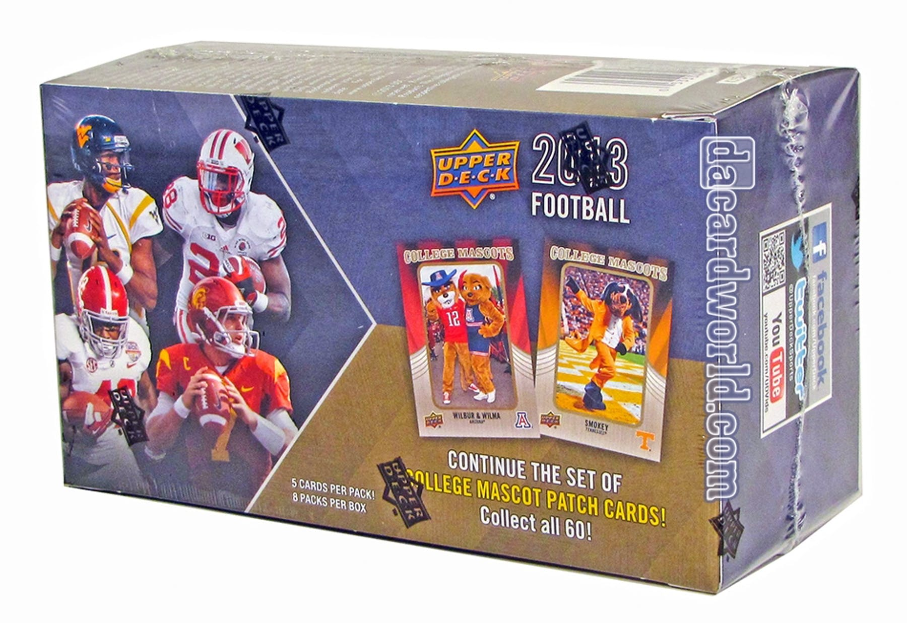 2013 upper deck football 8 pack box 1 bonus rookie for 2 box auto con stanza bonus