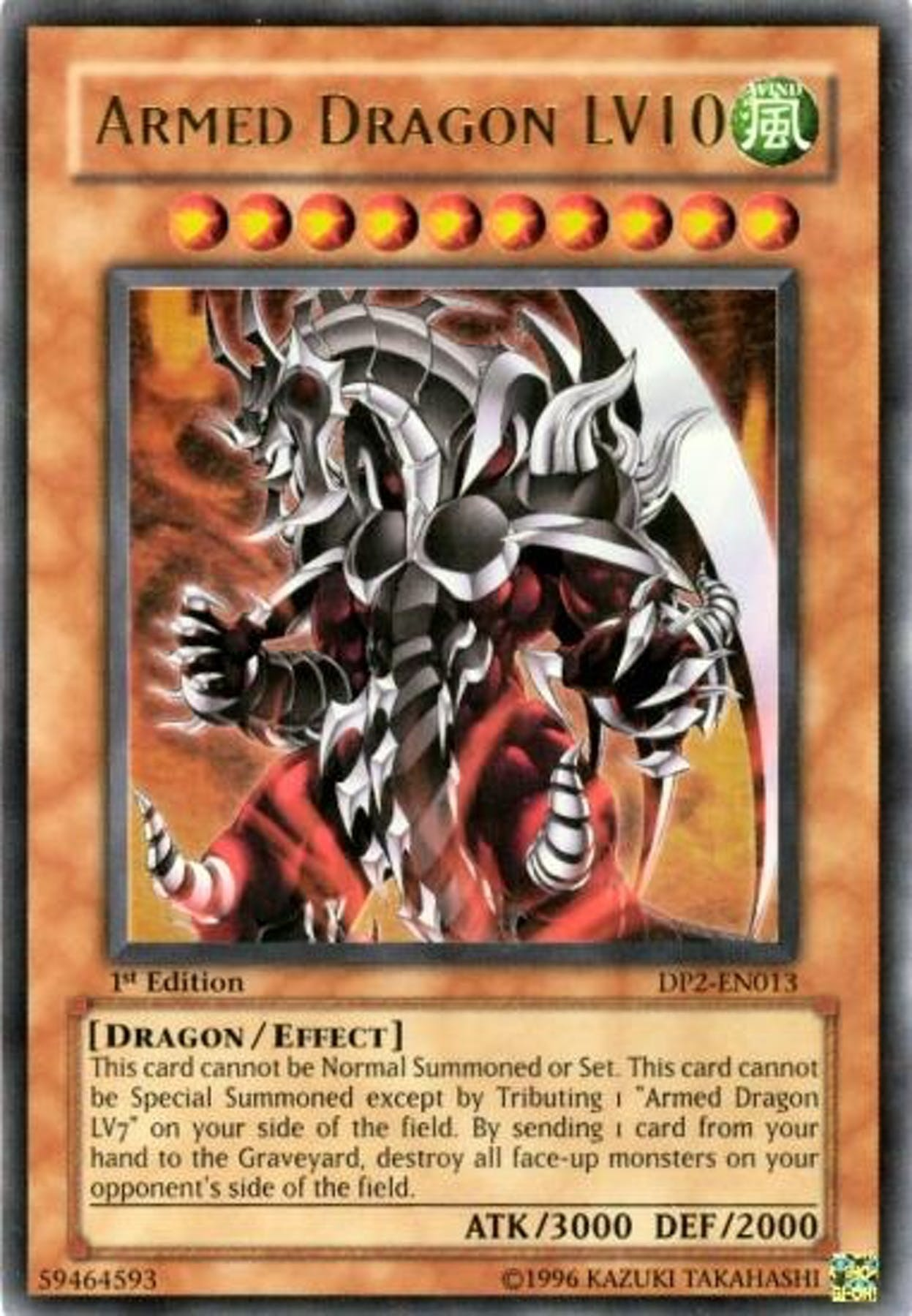 Yu-Gi-Oh Chazz Princeton Single Armed Dragon LV10 Ultra ...