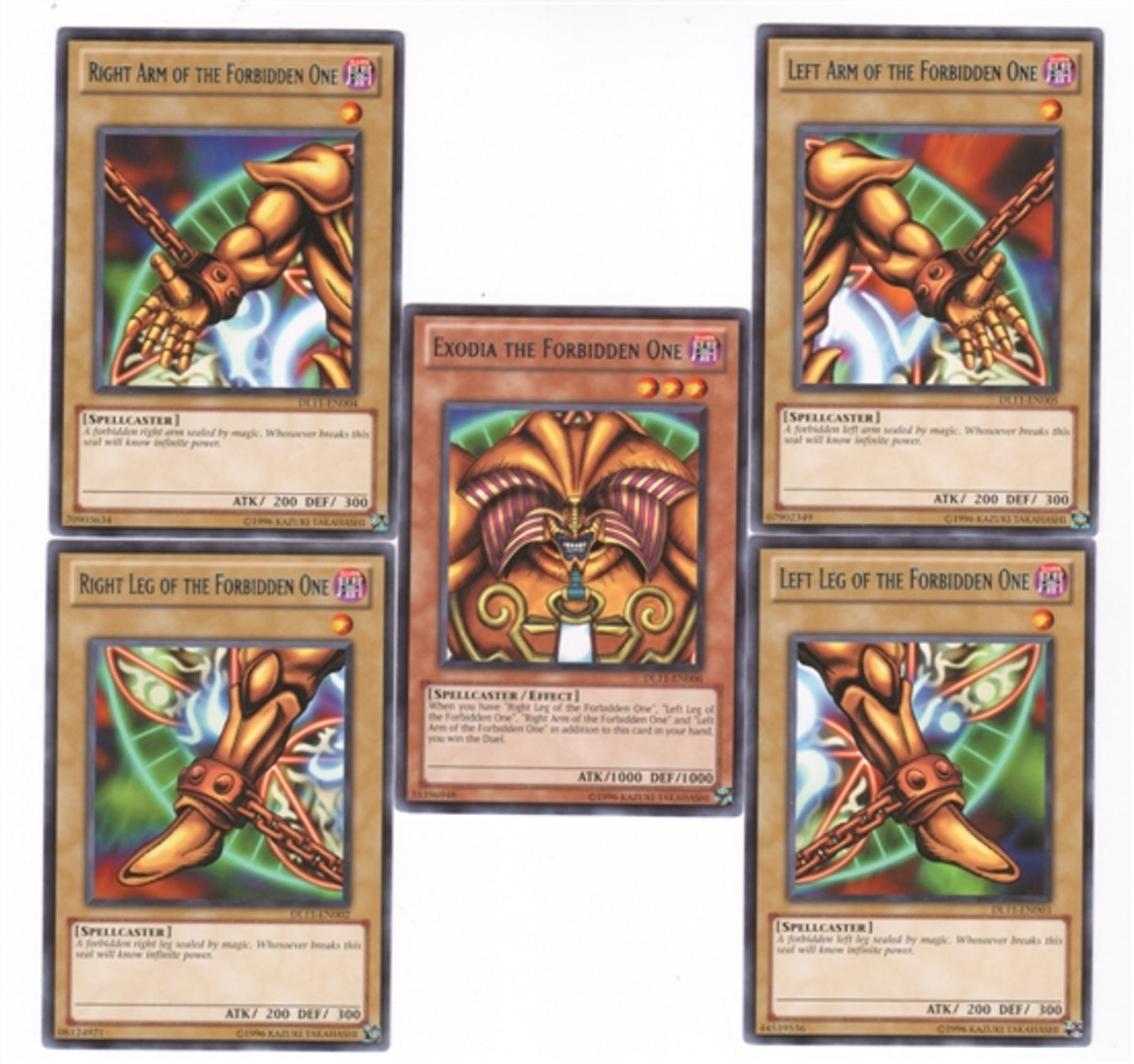 Uncategorized Exodia The Forbidden One yu gi oh duelist league single exodia the forbidden one blue rare set 5 pieces
