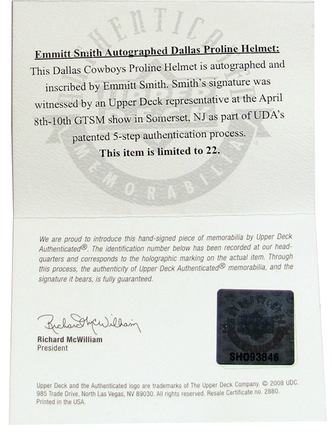 Awesome pictures of resale certificate nj business cards and resale certificate nj image source oregonswildharvest emmitt smith autographed dallas cowboys full size on field helmet xflitez Image collections