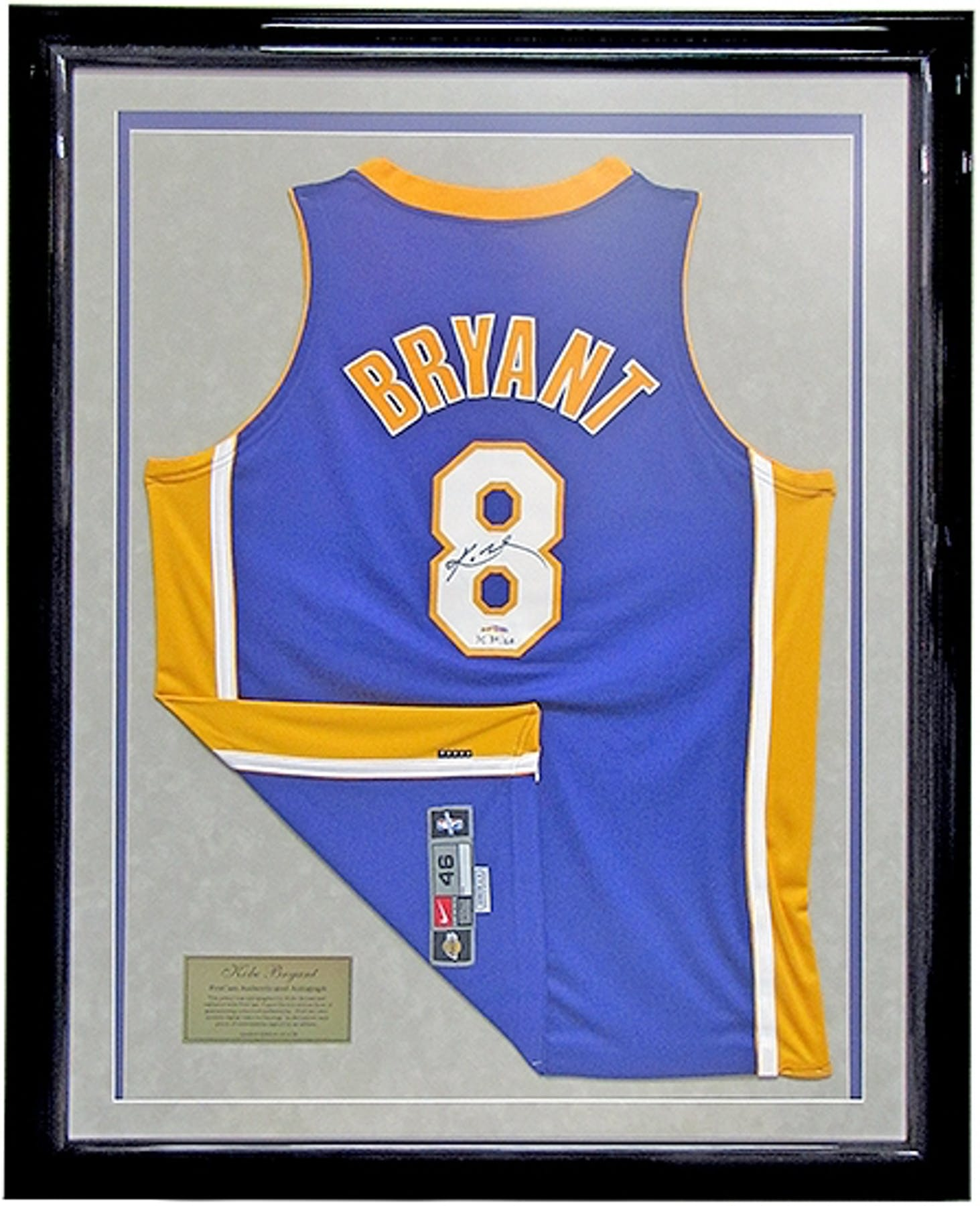 763a02140b8 ... Kobe Bryant Autographed Framed L.A. Lakers Authentic Jersey 8 (UDA) 50  . ...