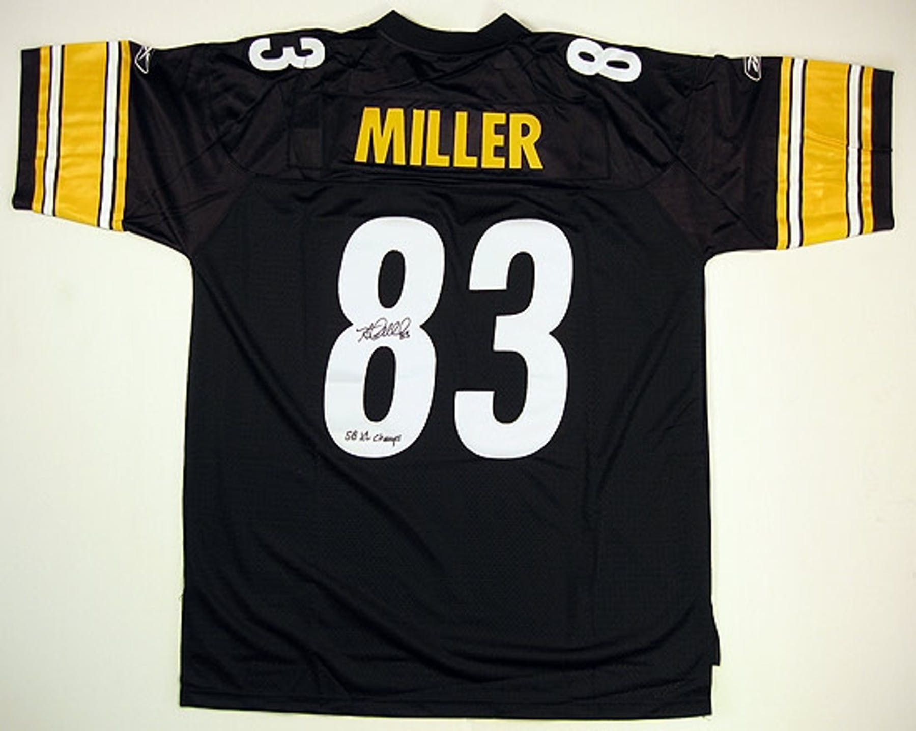 155a46a41 ... Heath Miller Autographed Pittsburgh Steelers Reebok Jersey ...